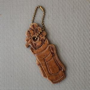 Vintage wood Golf Key Holder